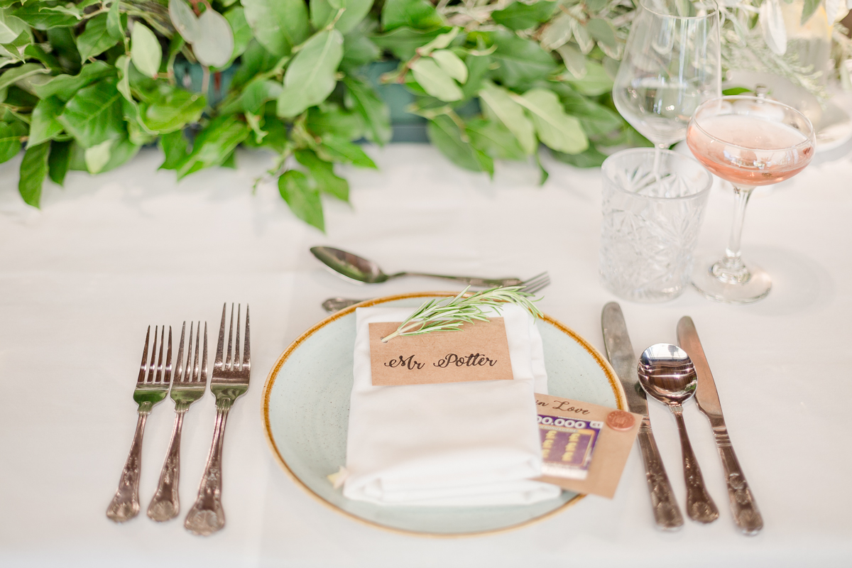 Mrs Potter table place setting