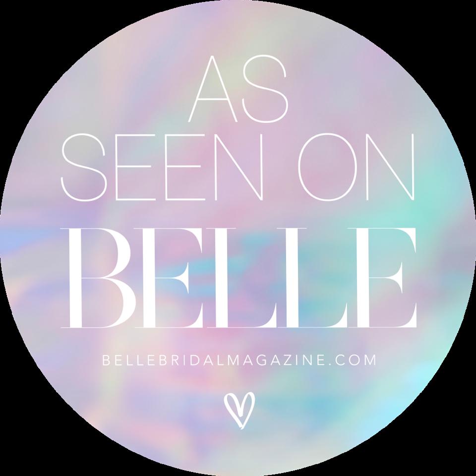 as seen on Belle Bridal logo
